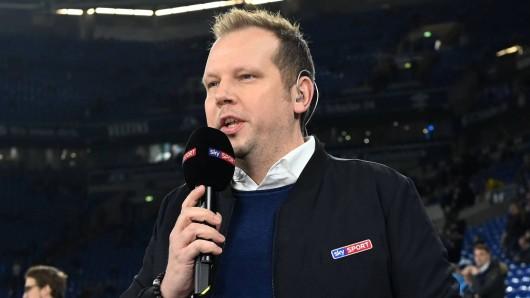 Sky-Kommentator Wolff Fuß brachte am Samstag ganz Fußball-Deutschland zum Lachen.