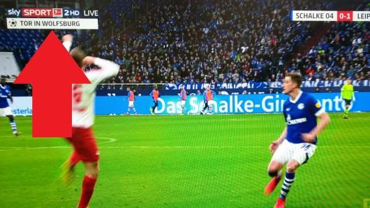 Sky überraschte seine Zuschauer am 26. Bundesliga-Spieltag mit einer kleinen Neuerung.