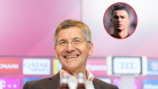 Herbert Hainer, Präsident des FC Bayern München, hat über eine Verpflichtung von Cristiano Ronaldo geredet.
