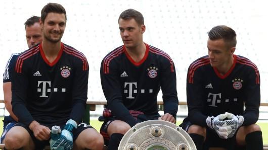 Sven Ulreich, Manuel Neuer und Christian Früchtl (v.l.): das Torhüter-Trio des FC Bayern München.
