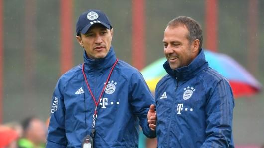 Niko Kovac (l.) und sein Nachfolger beim FC Bayern München, Hansi Flick.