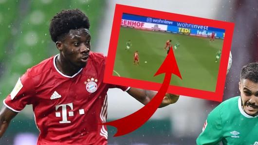 Der FC Bayern München ist deutscher Meister. Doch beim Spiel in Bremen redeten die Fans nur über diese Szene.