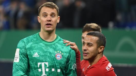 Bayern München unter Schock! Thiago (r.) will doch nicht verlängern, sondern weg.