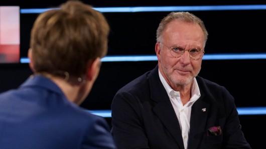 Im ZDF-Sportstudio geriet Karl-Heinz Rummenigge mächtig ins Schwitzen.