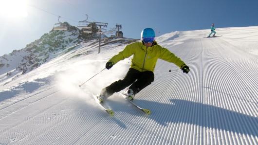 Im Skigebiet Nauders gibt es auch Hänge, die besser nur Könner hinunterfahren.