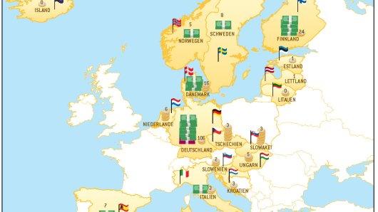 Die deutschen Tipper hatten bei der Lotterie Eurojackpot im ersten Halbjahr 2017 am meisten Glück.
