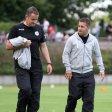 Enttäuscht nach der Niederlage in Mönchengladbach: RWO-Trainer Mike Terranova (r.) und Assistent Dirk Langerbein.