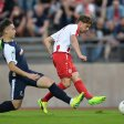 Tor für RWE: Kevin Grund trifft zum 1:0 gegen den FC Kray.