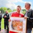 Fußball Regionalliga RWO - Rödinghausen am 20.05.2017 Verbschiedung der Spieler, hier Raphael Steinmetz Foto: Kerstin Bögeholz /Funke Foto Services