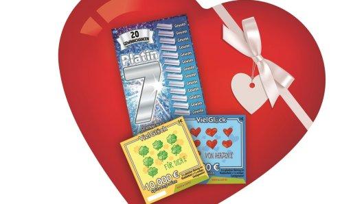 Wer noch nach einem Geschenk zum Valentinstag sucht wird in allen WestLotto-Annahmestellen fündig.