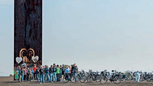 Industriegeschichte: Entlang der ehemaligen Zechentrassen gibt es für Radfahrer viel zu entdecken.