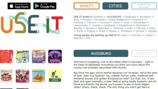 Die Website von Use-it bietet einen kostenlosen Stadtplan für einen Besuch der Metropole in Schwaben. Augsburg ist eine von 34 europäischen Städten, für die es auf der Seite Reiseführer zum Ausdrucken gibt.