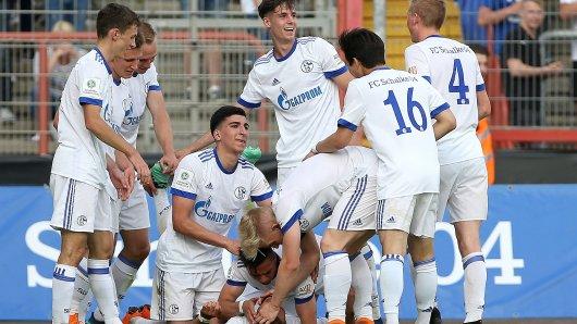 Großer Jubel nach dem erlösenden Tor zum 4:1 gegen die TSG Hoffenheim. Danach war das Halbfinal-Rückspiel, das 4:2 endete, entschieden.