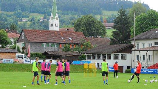 Training im Allgäu: Der VfL hat beste Bedingungen.