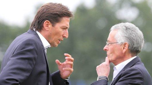 Im Dialog: Sportdirektor Ivica Grlic (links) und Vereinschef Ingo Wald.