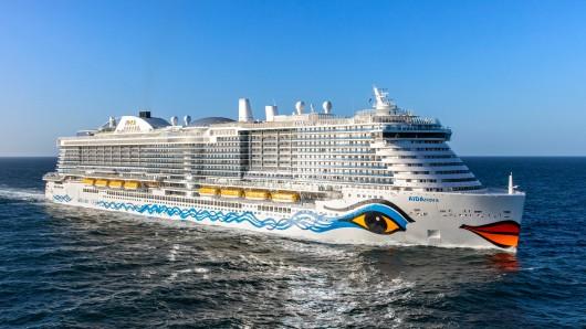 Die Aida Nova ist eines der größten Kreuzfahrtschiffe weltweit – und das erste mit Flüssiggasantrieb.