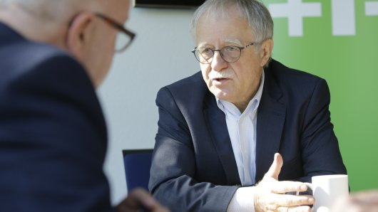 Kirchentagspräsident Hans Leyendecker im Interview mit Westlotto anlässlich des 37. Deutschen Evangelischen Kirchentages.