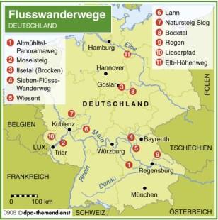 Wandern in Deutschland: Die elf schönsten Flusswanderwege