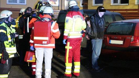 Der Brandstifter wurde noch vor Ort ermittelt und abgeführt.