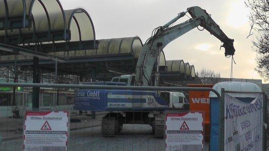 Der Busbahnhof Bochum wird derzeit umgebaut.