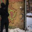 Die Sprayer konnten zuerst flüchten. Ein Kleinigkeit verriet die Bochumer jedoch im Schneegestöber.
