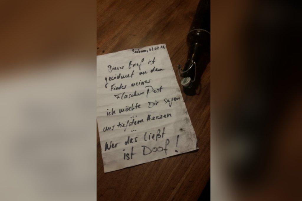 flaschenpost brief