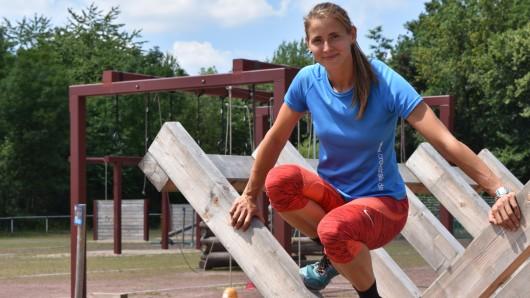 Hoch und wieder runter – Parkleiterin Pia Wagner trainiert selbst auch bei Crosstrails.