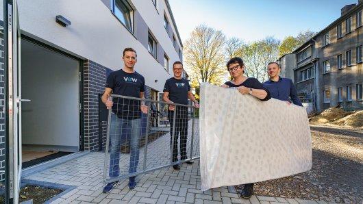 Neun Monate war das Wohnungsunternehmen VBW mit dem Bau des neuen Fliednerhauses für Wohnungslose in Bochum beschäftigt.