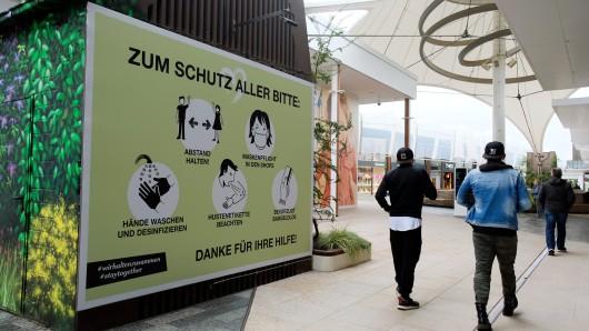 Im Ruhr Park Bochum herrscht Maskenpflicht. Ob sich alle daran halten?