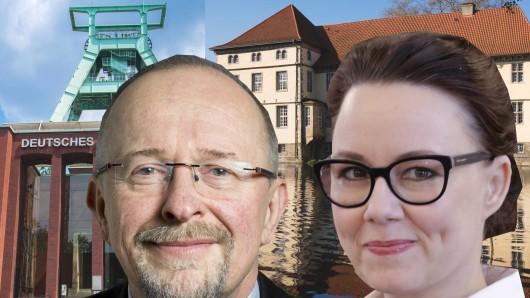 Sie holten 2017 die Direktmandate in Bochum bzw. Herne: Axel Schäfer und Michelle Müntefering, beide SPD.