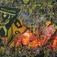 Ein Fan von Borussia Dortmund wurde am Flughafen gestoppt.