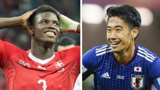 Für Breel Embolo vom FC Schalke 04 und Shinji Kagawa von Borussia Dortmund war mit der Schweiz bzw. Japan bei der WM jeweils im Achtelfinale Schluss.