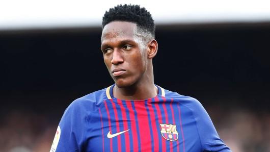 Yerry Mina vom FC Barcelona befand sich offenbar auch im Visier von Borussia Dortmund.