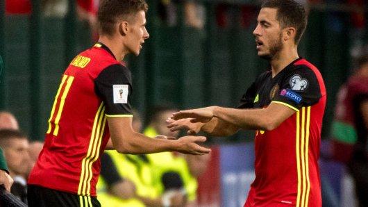Die belgischen Brüder Thorgan und Eden Hazard
