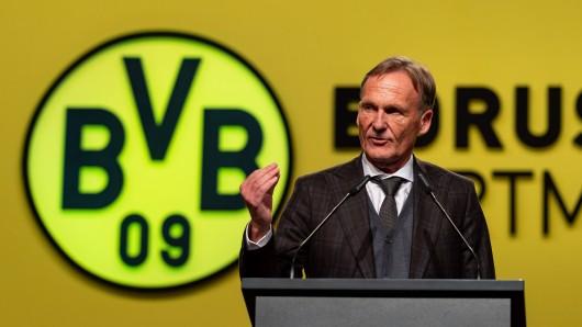 Hans-Joachim Watzke auf der Mitgliederversammlung von Borussia Dortmund.