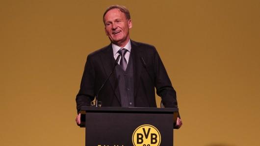 Bei der Aktionärsversammlung hat BVB-Geschäftsführer Hans-Joachim Watzke gegen den FC Bayern geschossen.