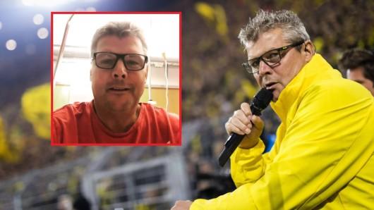 Vor dem Derby zwischen Schalke und Dortmund musste BVB-Stadionsprecher Norbert Dickel operiert werden.