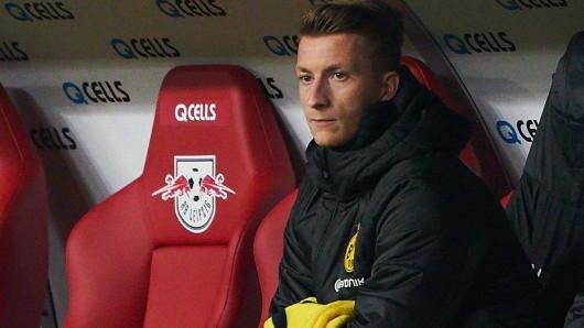 Marco Reus schaute beim Spiel von Borussia Dortmund gegen RB Leipzig nur zu.