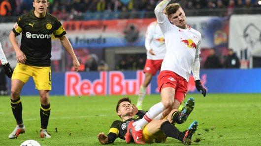 Timo Werner (r.) wird wohl auch in Zukunft gegen Borussia Dortmund spielen.