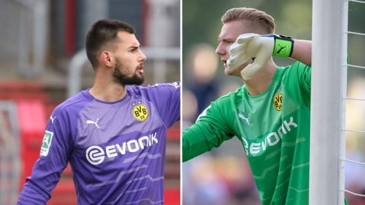Eric Oelschlägel und Luca Unbehaun sind bei Borussia Dortmund die Keeper Nummer 1 und 2 im Pokalspiel gegen Werder Bremen.