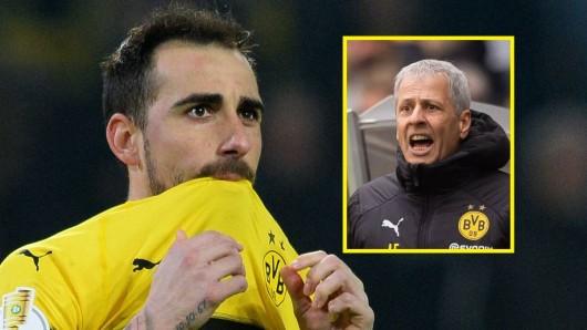 Paco Alcacer vergab für den BVB vom Punkt.