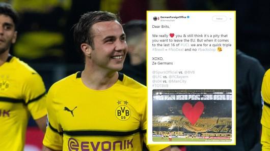Vor dem Spiel von Borussia Dortmund bei Tottenham Hotspur begeisterte das Auswärtige Amt mit einem lustigen Tweet.