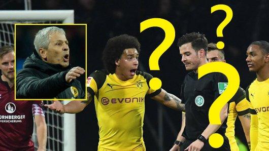 Beim Spiel von Borussia Dortmund beim 1. FC Nürnberg kam es zu einer kuriosen Szene.