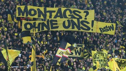 Fans von Borussia Dortmund finden Montagsspiele nicht allzu prickelnd.