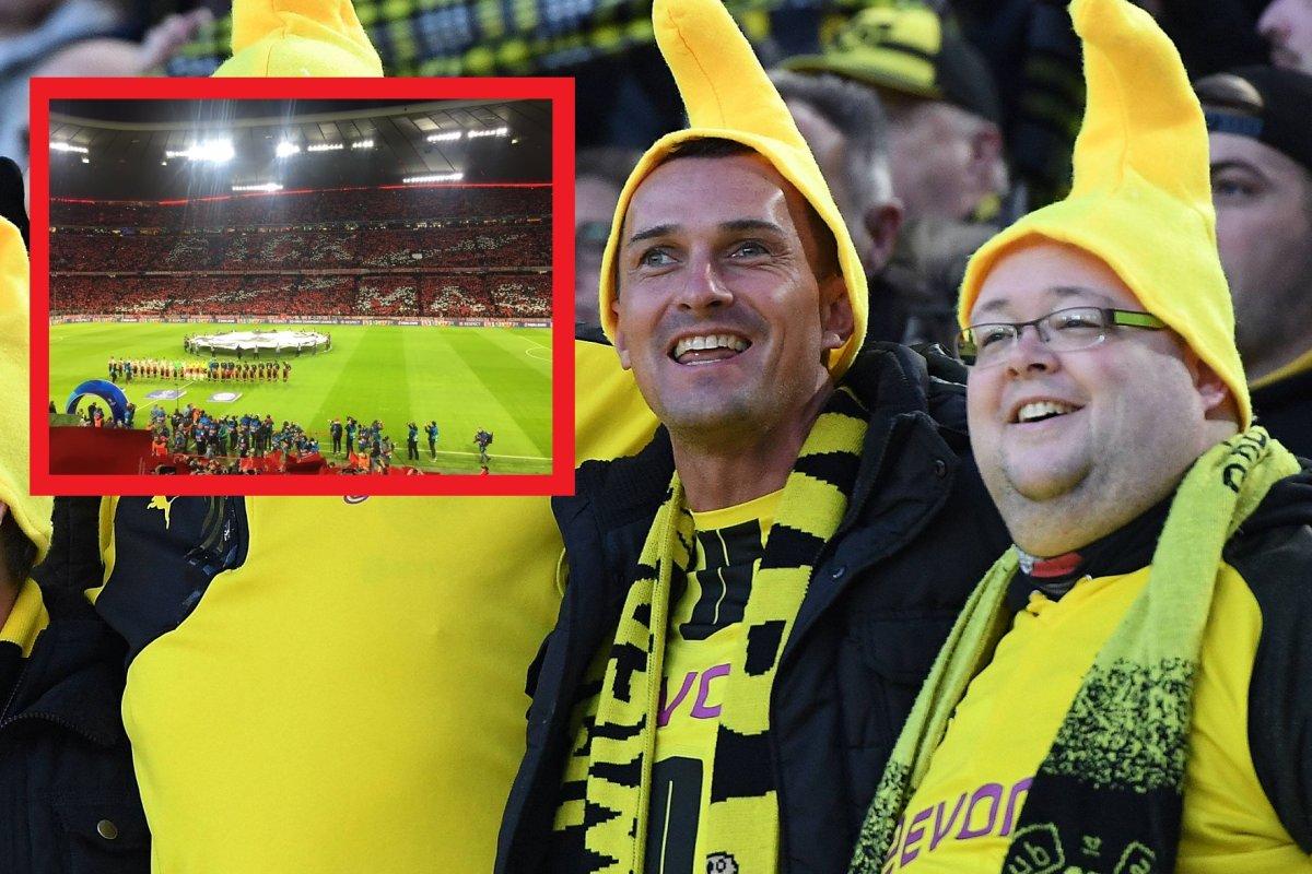 Borussia Dortmund Fans Lachen Uber Diese Peinliche Bayern Choreo