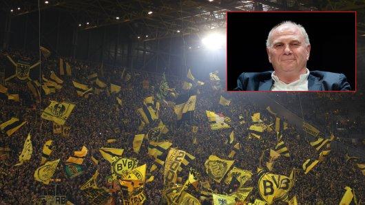 Bayern-Präsident Uli Hoeneoß hat eine Forderung, mit der sicherlich auch die Anhänger von Borussia Dortmund einverstanden wären.