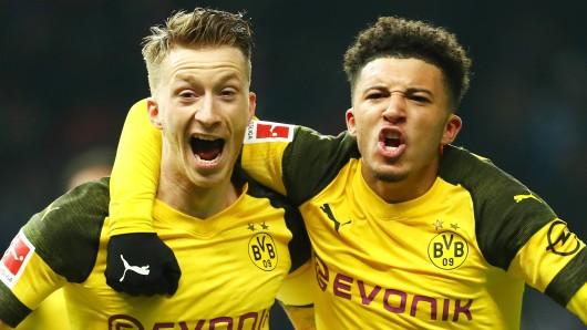 Im Spiel zwischen Bayern und Dortmund würden Marco Reus und Jadon Sancho sich über einen späten Treffer des BVB sicher nicht beschweren.
