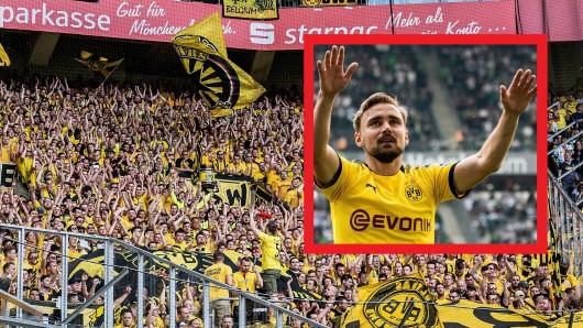 Die Fans des BVB feierten mit dem Team und ganz besonders mit Marcel Schmelzer.