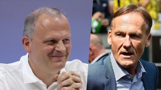 Borussia Dortmund will Patrik Schick ˜– doch Jochen Schneider (l.) und seiner Schalker funken dazwischen.