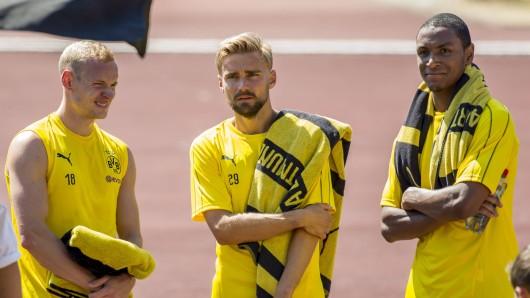Sebastian Rode (l.) und Abdou Diallo (r.) stehen bei Borussia Dortmund vor dem Absprung.